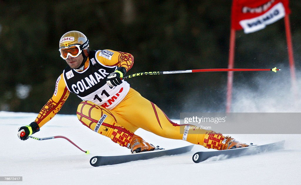 Jan Hudec of Canada takes 3rd place during the Alpine FIS Ski World Cup Men's Downhill on December 29, 2007 in Bormio, Italy.