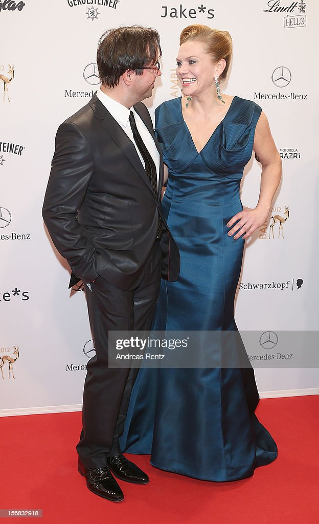 Jan Josef Liefers and Anna Loos attend 'BAMBI Awards 2012' at the Stadthalle Duesseldorf on November 22, 2012 in Duesseldorf, Germany.