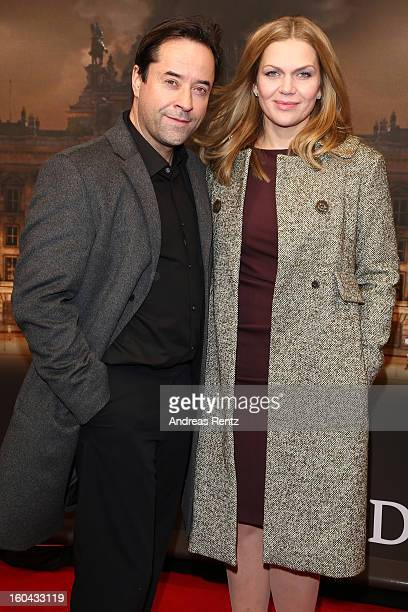 Jan Josef Liefers and Anna Loos attend 'Nacht Ueber Berlin' Preview at Astor Film Lounge on January 31 2013 in Berlin Germany