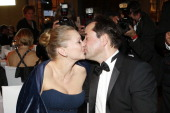 Jan Josef Liefers and Anna Loos attend the Germany Filmball 2013 on January 19 2013 in Munich Germany