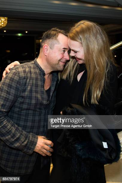 Jan Josef Liefers and Anna Loos attend the Medienboard BerlinBrandenburg Reception during the 67th Berlinale International Film Festival Berlin at on...