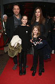 Jan Josef Liefers and his wife Anna Loos with their children Lilly and Lola attend the German premiere of the film 'Mara und der Feuerbringer' at...