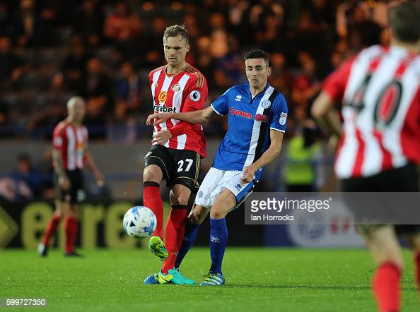 Jan Kirchhoff of Sunderland during the U23 EFL Checkertrade Trophy Group F match between Rochdale and Sunderland U23 at Spotland Stadium on September...