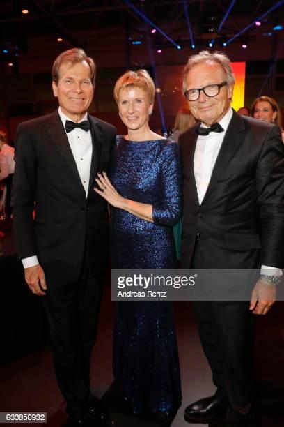 Jan Klatten with his wife Susanne Klatten and Werner E Klatten attend the German Sports Gala 'Ball des Sports 2017' on February 4 2017 in Wiesbaden...