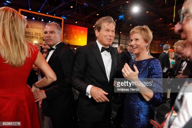 Jan Klatten with his wife Susanne Klatten attend the German Sports Gala 'Ball des Sports 2017' on February 4 2017 in Wiesbaden Germany
