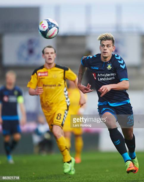 Jan Kliment of Brondby IF in action during the Danish Alka Superliga match between AC Horsens and Brondby IF at Casa Arena Horsens on March 12 2017...