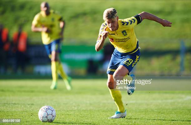 Jan Kliment of Brondby IF in action during the Danish Alka Superliga match between Lyngby BK and Brondby IF at Lyngby Stadion on April 9 2017 in...