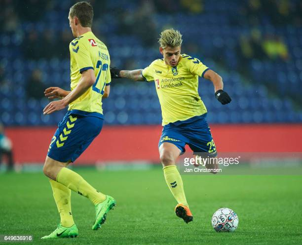Jan Kliment of Brondby IF in action during the Danish Cup DBU Pokalen match between BK Marienlyst and Brondby IF at Brondby Stadion on March 08 2017...