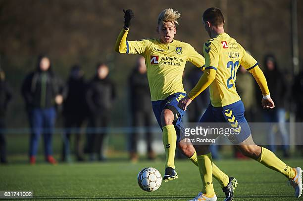 Jan Kliment of Brondby IF in action during the preseason friendly match between Brondby IF and KFUM Roskilde at Brondby Stadion on January 15 2017 in...