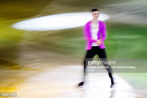 Jan Kurnik of Czech Republic performs in the gala exhibition during day 5 of the European Figure Skating Championships at Ostravar Arena on January...