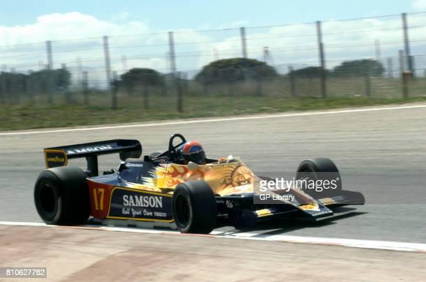 Jan Lammers driving a Shadow DN9 at Jarama Spanish GP 12th