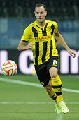 Jan Lecjaks of BSC Young Boys in action during the UEFA Europa League match between BSC Young Boys and SK Slovan Bratislava at the Stade de Suisse on...