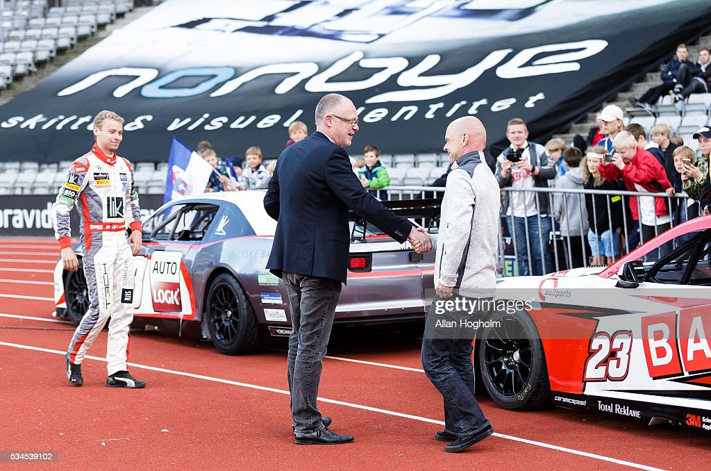 Jan Magnussen from DTC during halftime of the Danish Alka Superliga match between AGF Aarhus and OB Odense at Ceres Park on May 26, 2016 in Aarhus, Denmark.