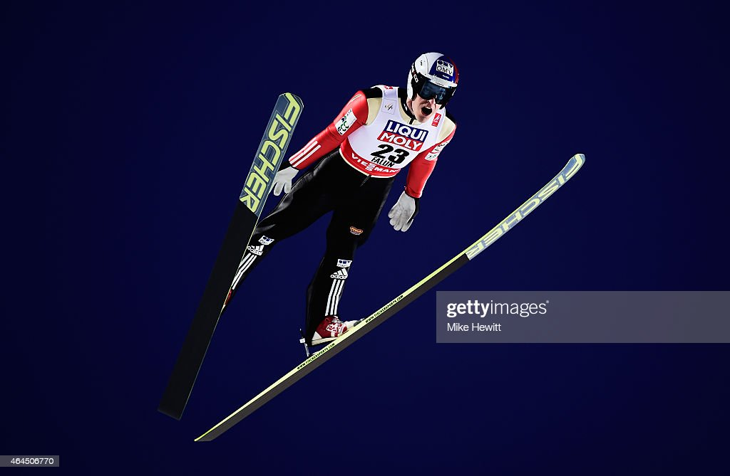 <a gi-track='captionPersonalityLinkClicked' href=/galleries/search?phrase=Jan+Matura&family=editorial&specificpeople=723613 ng-click='$event.stopPropagation()'>Jan Matura</a> of Czech Republic competes during the Men's HS134 Large Hill Ski Jumping Final during the FIS Nordic World Ski Championships at the Lugnet venue on February 26, 2015 in Falun, Sweden.
