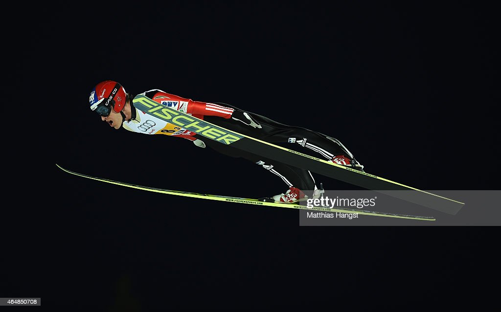 <a gi-track='captionPersonalityLinkClicked' href=/galleries/search?phrase=Jan+Matura&family=editorial&specificpeople=723613 ng-click='$event.stopPropagation()'>Jan Matura</a> of Czech Republic competes during the Men's Team HS134 Large Hill Ski Jumping during the FIS Nordic World Ski Championships at the Lugnet venue on February 28, 2015 in Falun, Sweden.