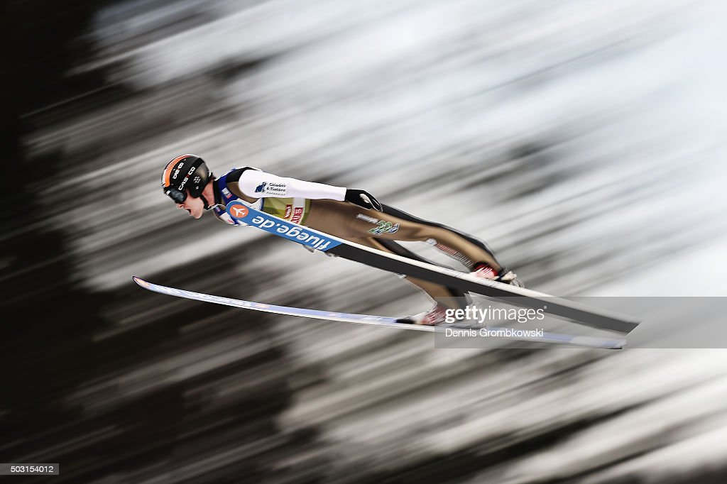<a gi-track='captionPersonalityLinkClicked' href=/galleries/search?phrase=Jan+Matura&family=editorial&specificpeople=723613 ng-click='$event.stopPropagation()'>Jan Matura</a> of Czech Republic soars through the air during his qualification jump on day 1 of the 64th Four Hills Tournament ski jumping event on January 2, 2016 in Innsbruck, Austria.