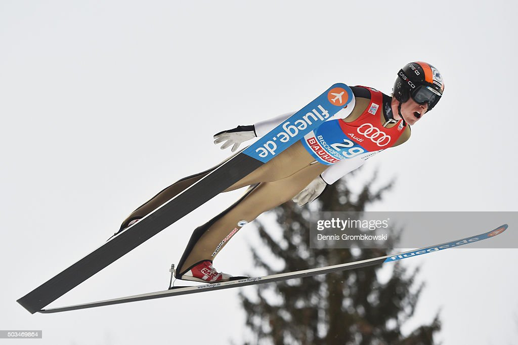 <a gi-track='captionPersonalityLinkClicked' href=/galleries/search?phrase=Jan+Matura&family=editorial&specificpeople=723613 ng-click='$event.stopPropagation()'>Jan Matura</a> of Czech Republic soars through the air during his trial jump on Day 1 of the Bischofshofen 64th Four Hills Tournament ski jumping event on January 5, 2016 in Bischofshofen, Austria.