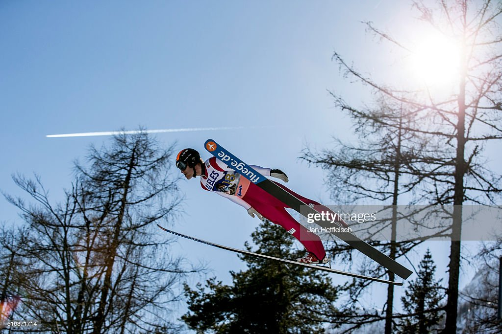 <a gi-track='captionPersonalityLinkClicked' href=/galleries/search?phrase=Jan+Matura&family=editorial&specificpeople=723613 ng-click='$event.stopPropagation()'>Jan Matura</a> of the Czech Republic competes during the first run of the FIS Ski Jumping World Cup at Planica on March 18, 2016 in Planica, Slovenia.