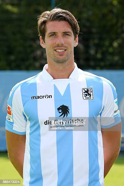 Jan Mauersberger poses during the official team presentation of TSV 1860 Muenchen at Trainingsgelaende on July 22 2016 in Munich Germany