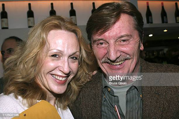 Jan Maxwell and Larry Bryggman during 50th Annual Drama Desk Awards Nominations Cocktail Party at Arte Cafe in New York City New York United States