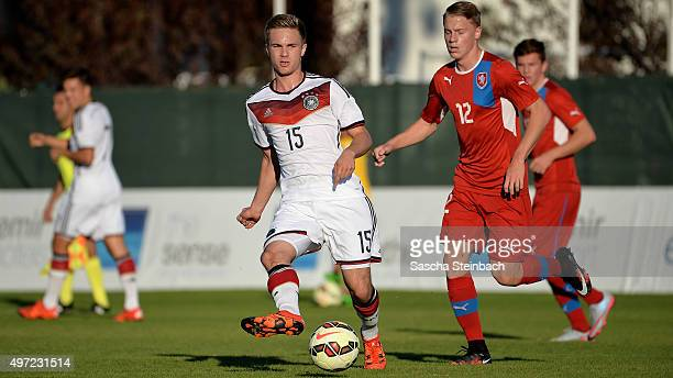 Jan Neuwirt of Germany plays the ball during the U18 four nations friendly tournament match between Germany and Czech Republic at Emirhan Sport...