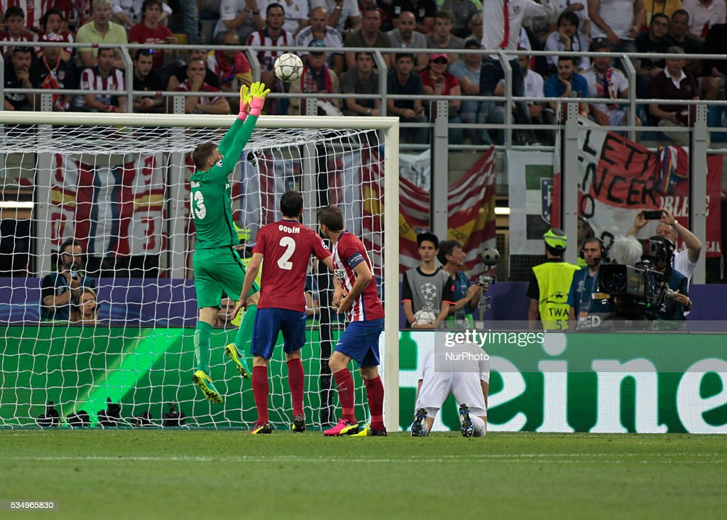 Jan Oblak (13) during the Champions League final between Real Madrid CF and Club Atletico de Madrid at the Giuseppe Meazza Stafium of Milan on may 28, 2016 in Milan, Italy.