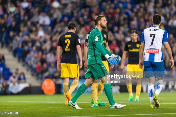 Jan Oblak during the match between RCD Espanyol vs Atletico Madrid for the round 33 of the Liga Santander played at RCD Espanyol Stadium on 22th...