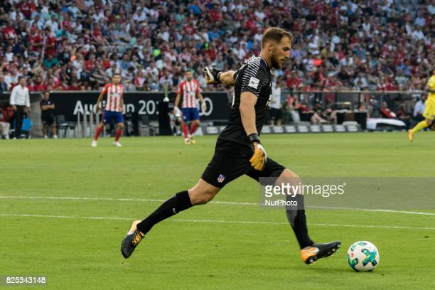 Jan Oblak goalkeeper of Atletico de Madrid during the first Audi Cup football match between Atletico Madrid and SSC Napoli in the stadium in Munich...