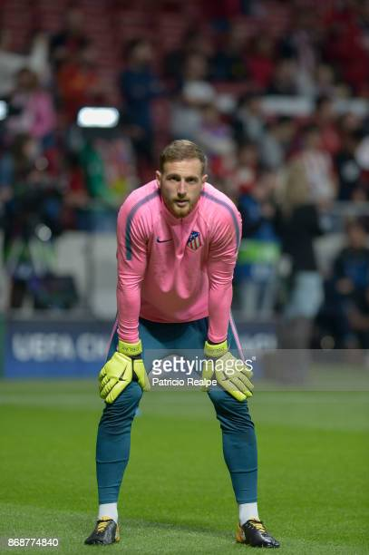 Jan Oblak goalkeeper of Atletico de Madrid looks on before the match between Atletico Madrid and Qarabag FK as part of the UEFA Champions League at...