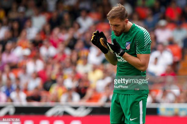 13 Jan Oblak of Atletico de Madrid during spanish La Liga match between Valencia CF vs Atletico de Madrid at Mestalla Stadium on September 09 2017