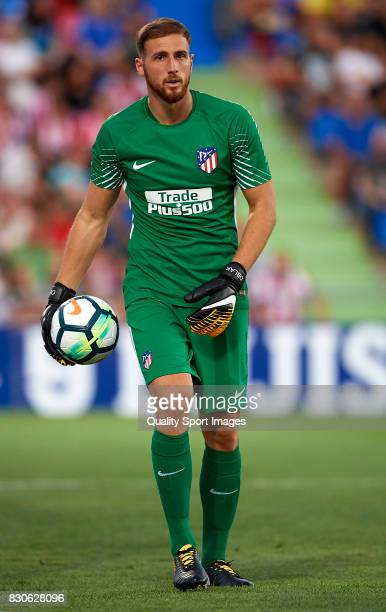 Jan Oblak of Atletico de Madrid in action during the Pre Season Friendly match between Getafe CF and Atletico de Madrid at Coliseum Alfonso Perez...