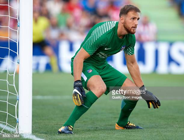 Jan Oblak of Atletico de Madrid looks on during the Pre Season Friendly match between Getafe CF and Atletico de Madrid at Coliseum Alfonso Perez...