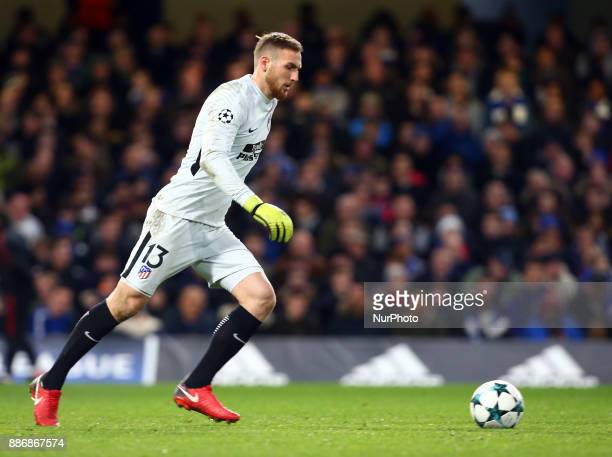 Jan Oblak of Atletico Madrid during the Champions League Group C match between Chelsea and Atlético Madrid at Stamford Bridge London England on 5 Dec...