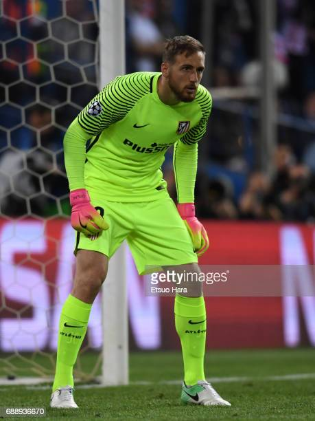 Jan Oblak of Atletico Madrid in action during the UEFA Champions League Semi Final second leg match between Club Atletico de Madrid and Real Madrid...