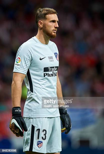 Jan Oblak of Atletico Madrid reacts during the La Liga match between Atletico Madrid and Malaga at Wanda Metropolitano stadium on September 16 2017...