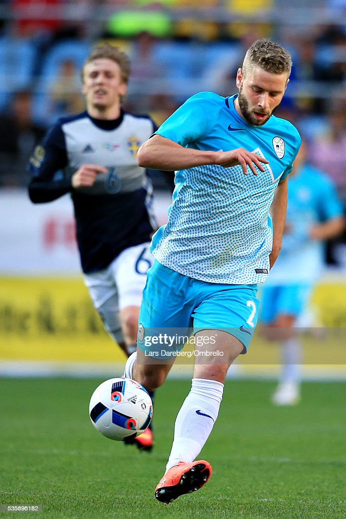 <a gi-track='captionPersonalityLinkClicked' href=/galleries/search?phrase=Jan+Oblak&family=editorial&specificpeople=8900856 ng-click='$event.stopPropagation()'>Jan Oblak</a> of Slovenia during the international friendly match between Sweden and Slovenia on May 30, 2016 in Malmo, Sweden.