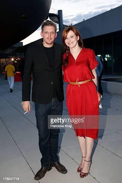 Jan Ole Gerster and Katrin Bauerfeind attend the Munich Film Festival 2013 'Foerderpreis Neues Deutsches Kino' at BMW Museum on July 05 2013 in...