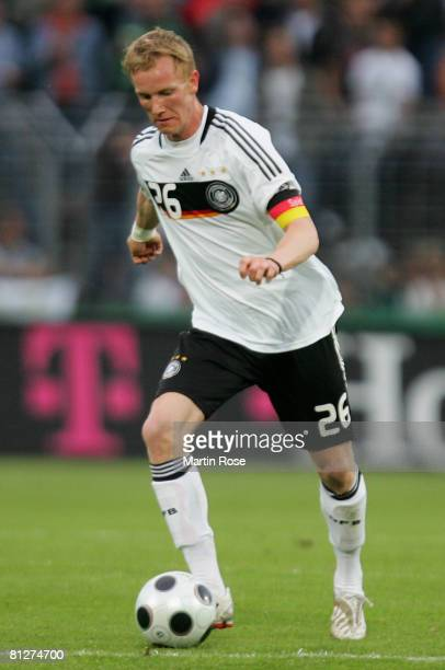 Jan Rosenthal of Germany runs with the ball during the U21 international friendly match between Germany and Denmark at the Lohmuehlen stadium on May...