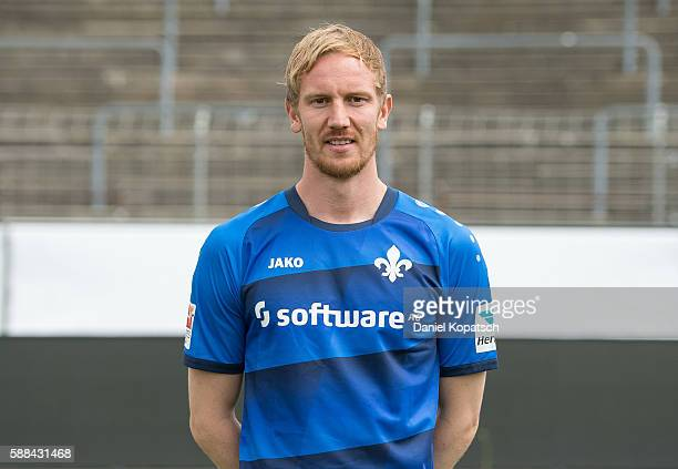 Jan Rosenthal poses during the Darmstadt 98 Team Presentation on August 11 2016 in Darmstadt Germany