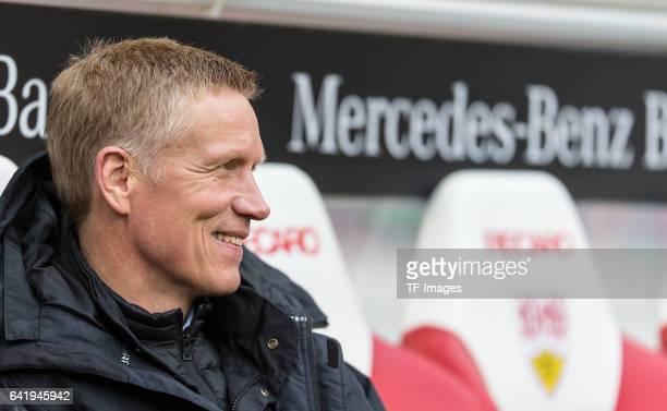 Jan Schindelmeiser of Stuttgart looks on during the Second Bundesliga match between VfB Stuttgart and SV Sandhausen at MercedesBenz Arena on February...