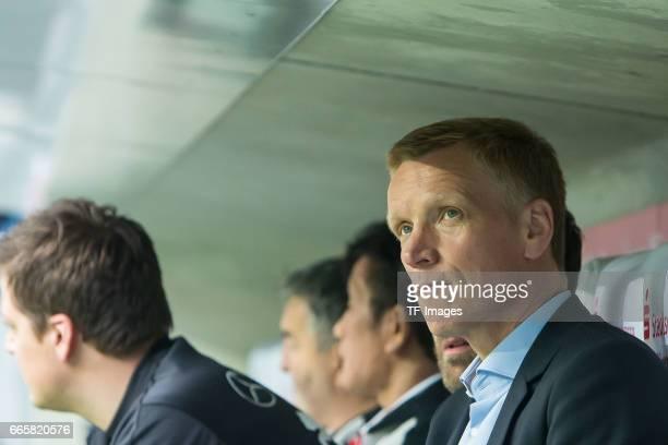 Jan Schindelmeiser of Stuttgart looks on during the Second Bundesliga match between TSV 1860 Muenchen and VfB Stuttgart at Allianz Arena on April 5...