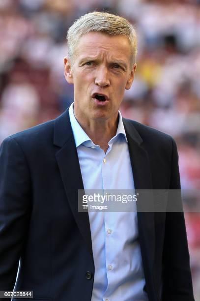 Jan Schindelmeiser of Stuttgart looks on during the Second Bundesliga match between VfB Stuttgart and Karlsruher SC at MercedesBenz Arena on April 9...