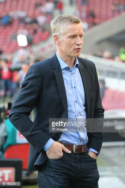 Jan Schindelmeiser of Stuttgart looks on during the Second Bundesliga match between VfB Stuttgart and 1 FC Union Berlin at MercedesBenz Arena on...