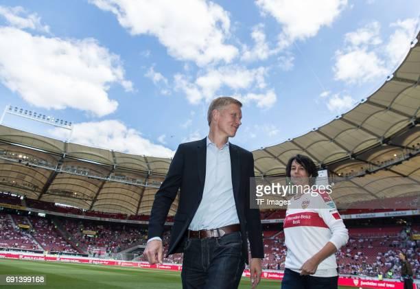 Jan Schindelmeiser of Stuttgart looks on during the Second Bundesliga match between VfB Stuttgart and FC Wuerzburger Kickers at MercedesBenz Arena on...