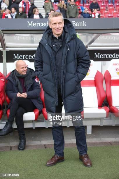 Jan Schindelmeiser of VfB Stuttgart looks on during the Second Bundesliga match between VfB Stuttgart and SV Sandhausen at MercedesBenz Arena on...