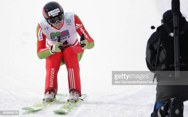 Jan Schmid of Norway competes in the Gundersen Ski Jumping HS 138 event during day one of the FIS Nordic Combined World Cup on December 5 2009 in...