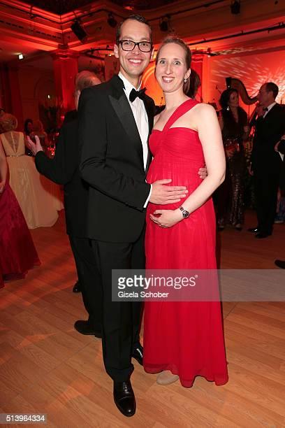 Jan Schneider and his wife Linda Schneider pregnant during the Spring Ball Frankfurt 2016 on March 5 2016 at Palmengarten in Frankfurt am Main Germany