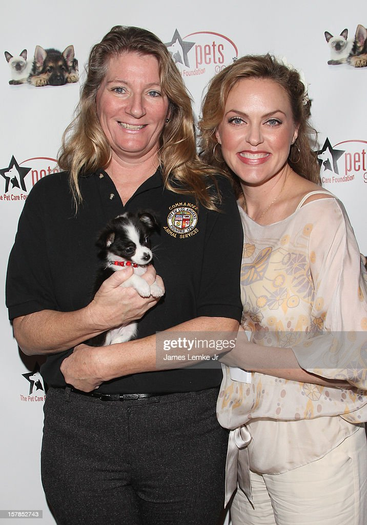 Jan Selder, Furby and Elaine Hendrix attends the Follow The Stars/Adopt A Pet 2013 Rose Parade Float Unveiling held at the Beverly Hills City Hall on December 6, 2012 in Beverly Hills, California.