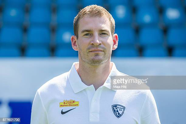 Jan Siewert poses during the official team presentation of VfL Bochum on July 19 2016 at Vonovia Ruhrstadion in Bochum Germany