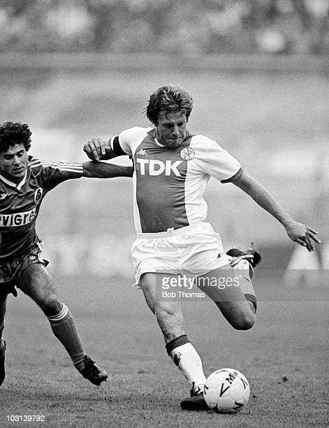 Jan Sorensen of Ajax Amsterdam in action against FC Porto during the Amsterdam Tournament on 9th August 1987 The match ended in a 11 draw